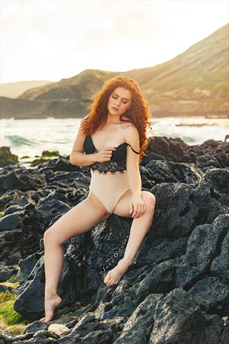 allie summers siren on the rocks sensual photo by photographer joey odouls