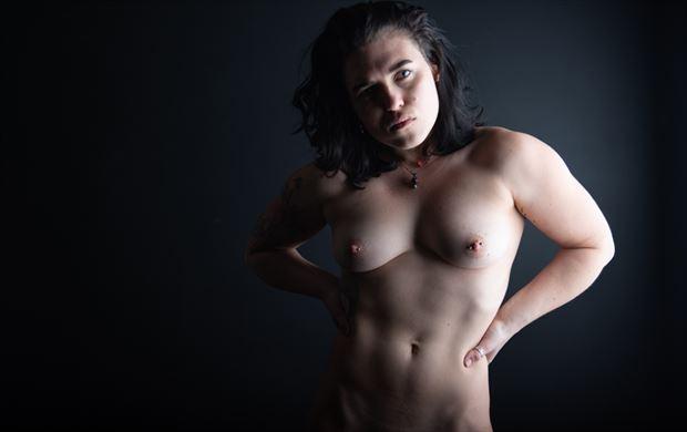 alternative model studio lighting photo by model megg bel