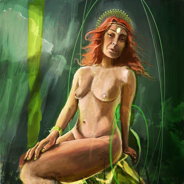 amanda 10 chiaroscuro artwork by artist nick kozis