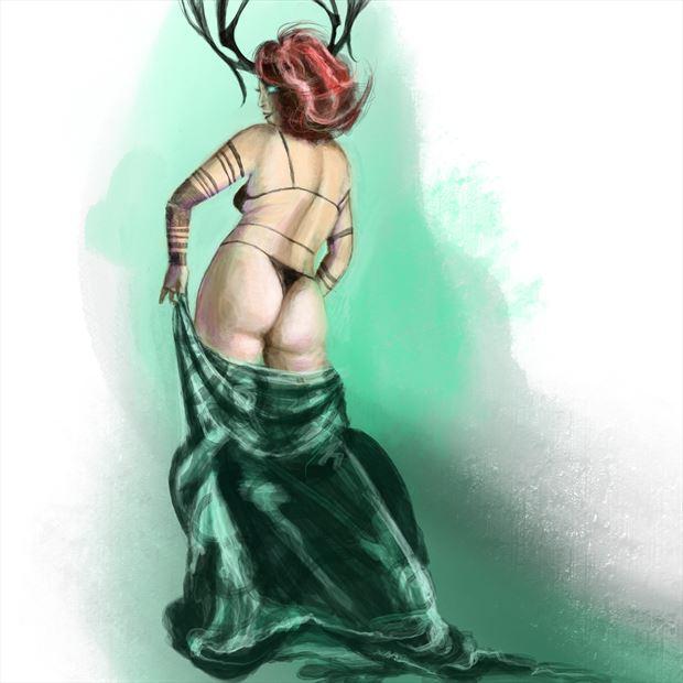 amanda 18 fantasy artwork by artist nick kozis