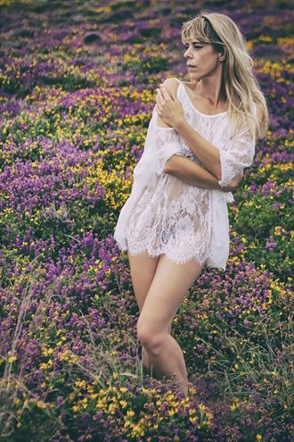 amongst the heather gorse natural light photo by model selkie