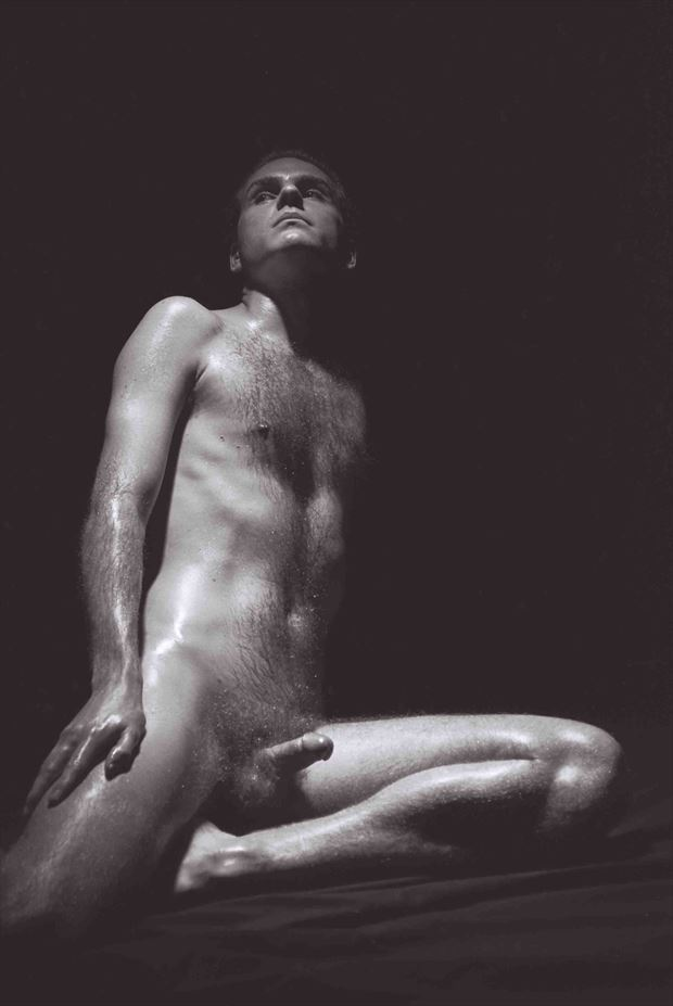 ancient greek satyr 2000 artistic nude photo by model thomas lundy