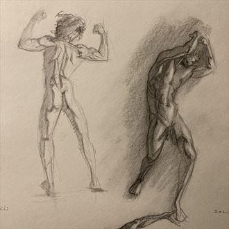 andrew posing 1 artistic nude artwork by artist edoism