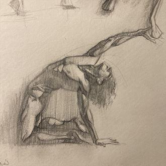 andrew posing 2 artistic nude artwork by artist edoism