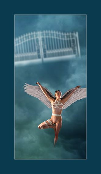 angel at the pearly gates artistic nude photo by photographer michael lee