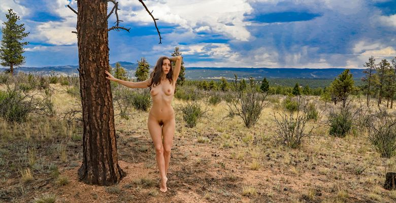 anoush in the mountains artistic nude photo by photographer runamockroger