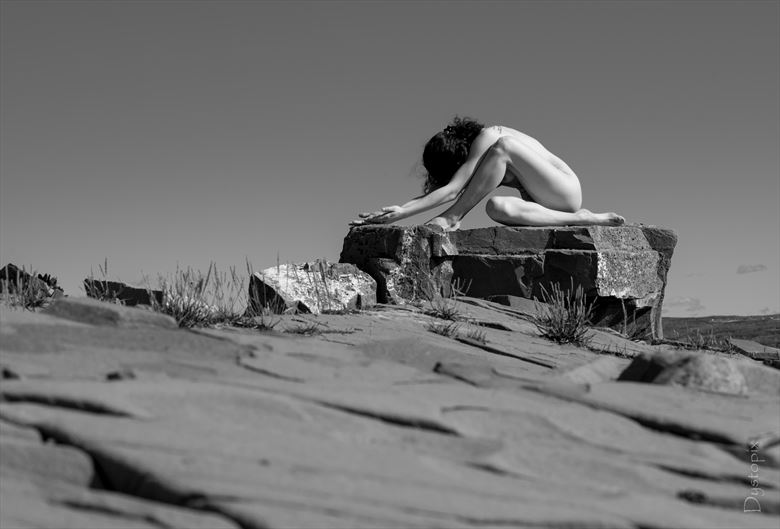 anthrisque outdoor artistic nude artwork by photographer dystopix photo