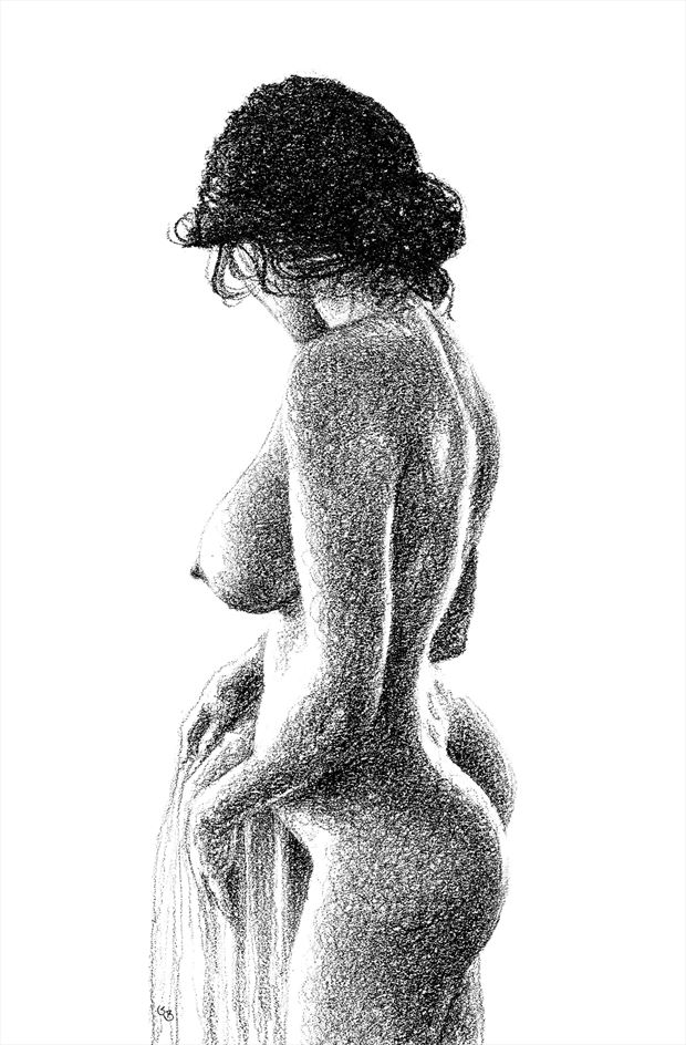anticipation artistic nude artwork by artist subhankar biswas