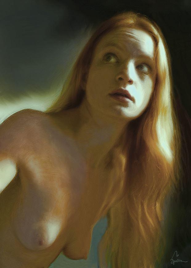 apprehension artistic nude artwork by artist van evan fuller