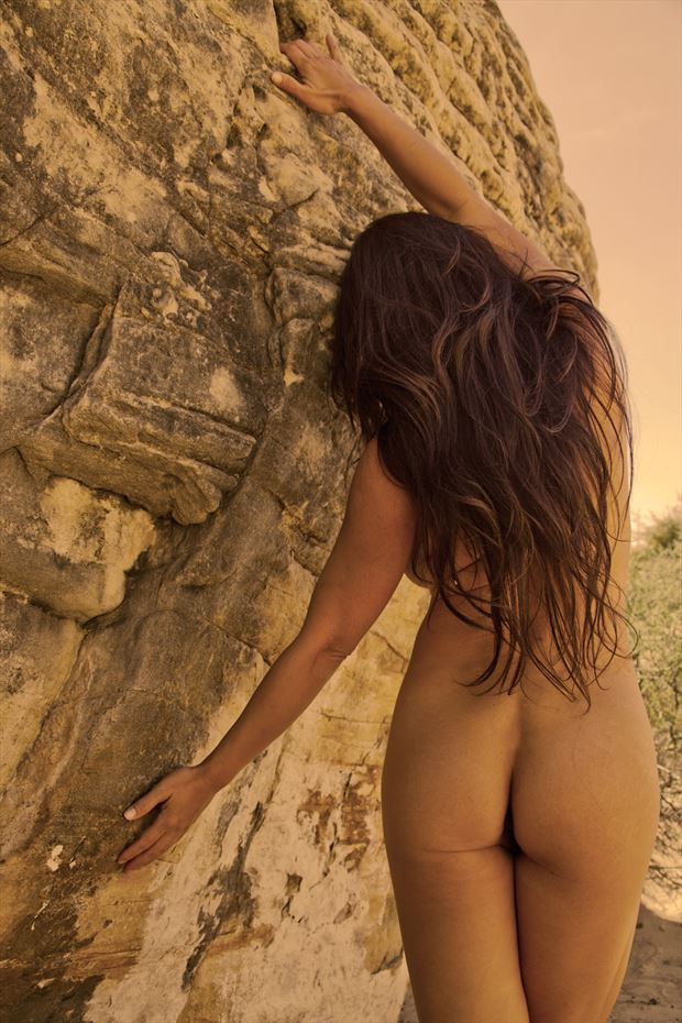 april rock hugging artistic nude photo by photographer eric212