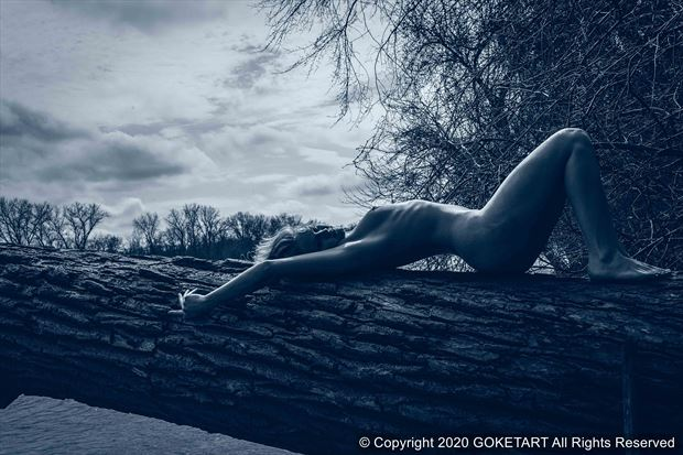 arch artistic nude artwork by model kaye
