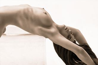 arched nude artistic nude photo by photographer philip turner