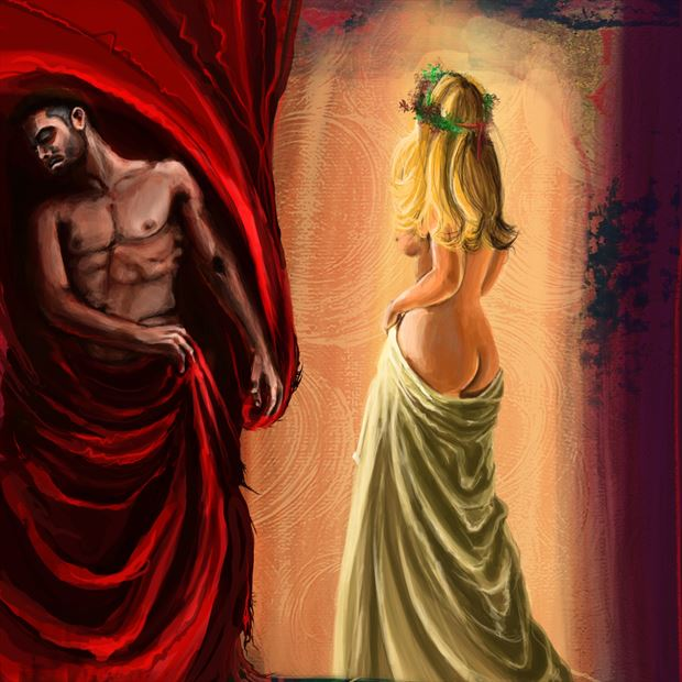 ares and aphrodite artistic nude artwork by artist nick kozis
