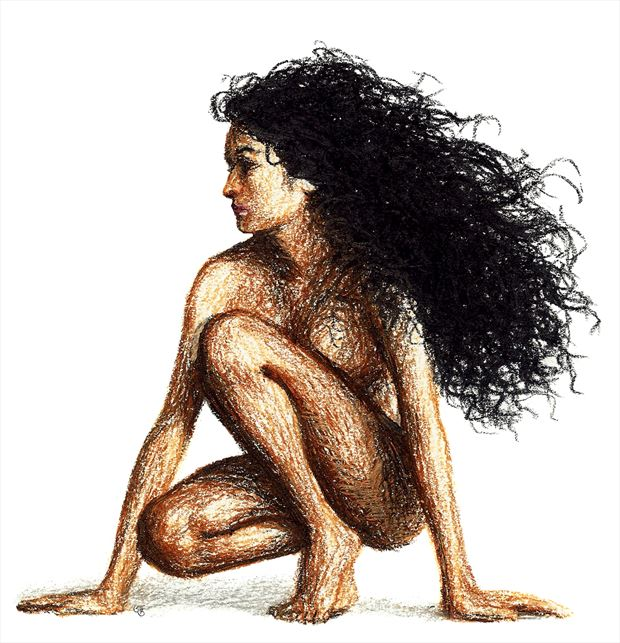 aria artistic nude artwork by artist subhankar biswas