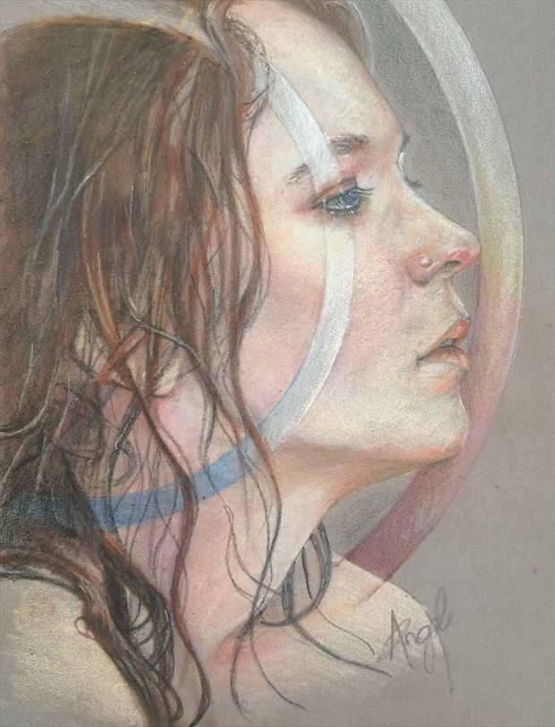 aries portrait artwork by artist angeil illustrations