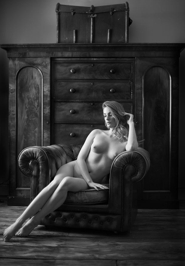 artemis in the chair artistic nude photo by photographer colin dixon