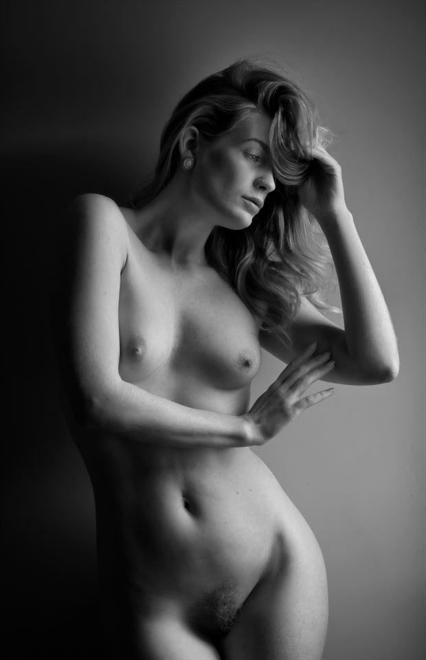 artemis in the window light artistic nude photo by photographer colin dixon