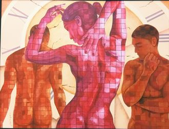 artistic nude abstract artwork by artist sonaly gandhi