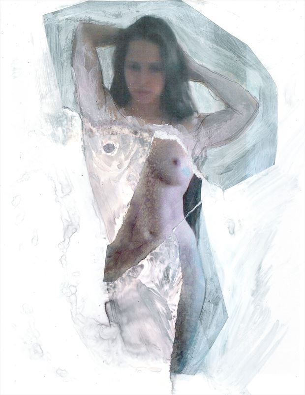 artistic nude abstract artwork by model redpanda