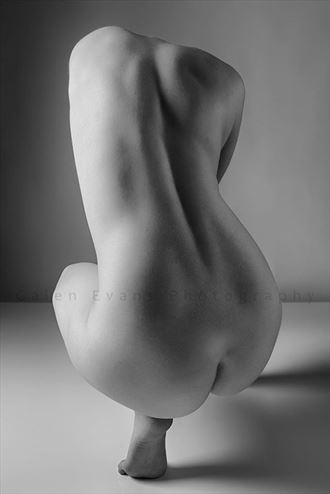 artistic nude abstract photo by model becca briggs