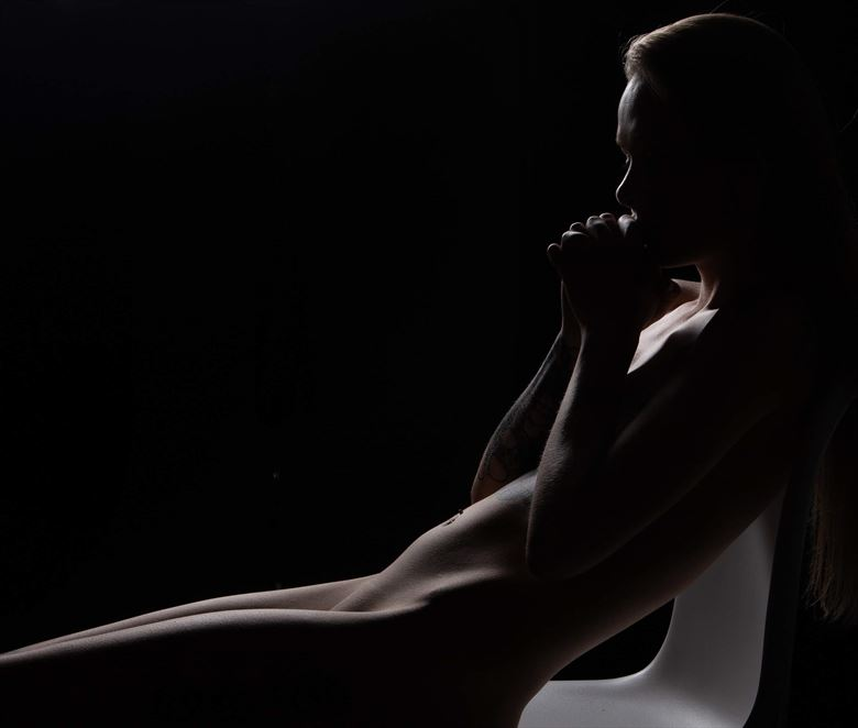 artistic nude alternative model photo by photographer eric upside brown