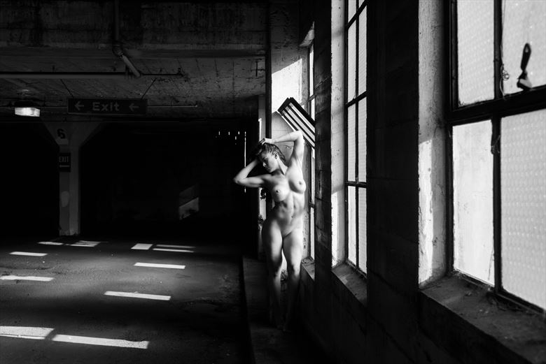 artistic nude architectural photo by model ceara blu
