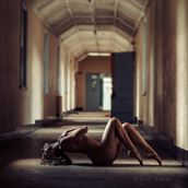 artistic nude architectural photo by model selkie
