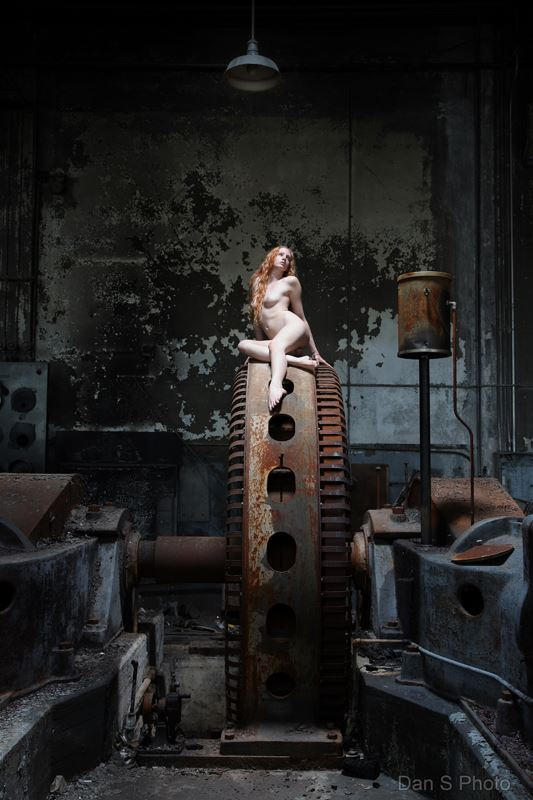 artistic nude architectural photo by model xaina fairy