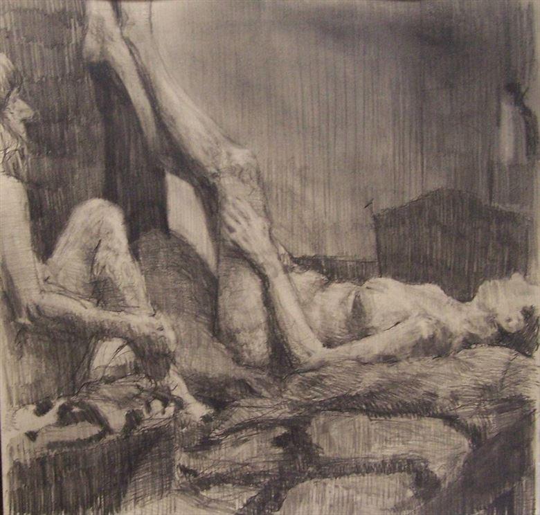 artistic nude artwork by artist michaelschmidtart