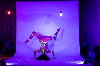 artistic nude body painting artwork by model chaotik dreamz