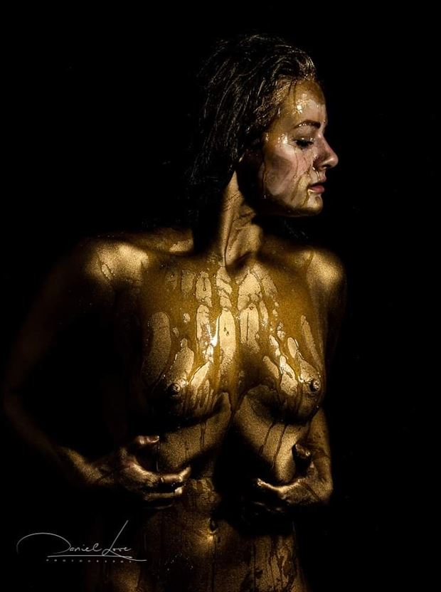 artistic nude body painting photo by model hestia