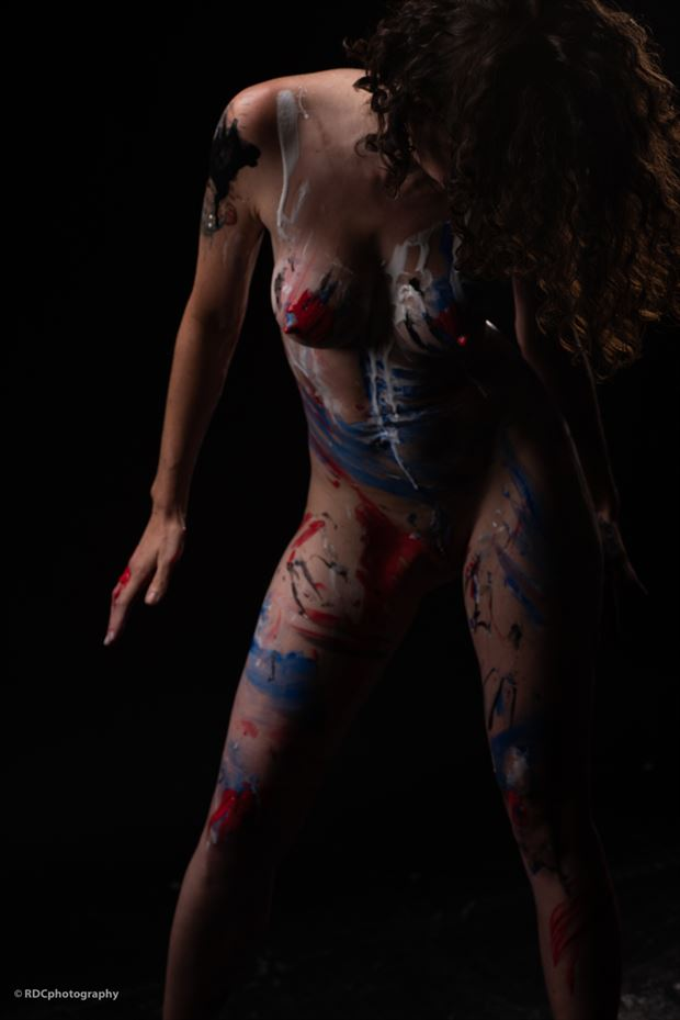 artistic nude body painting photo by model michelle s