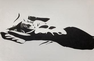artistic nude chiaroscuro artwork by artist rickgordon