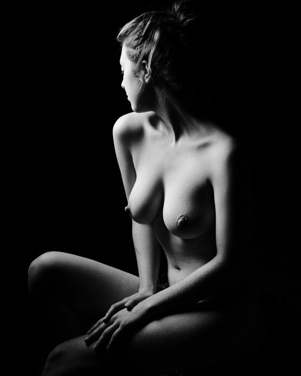 artistic nude chiaroscuro photo by photographer msl photography