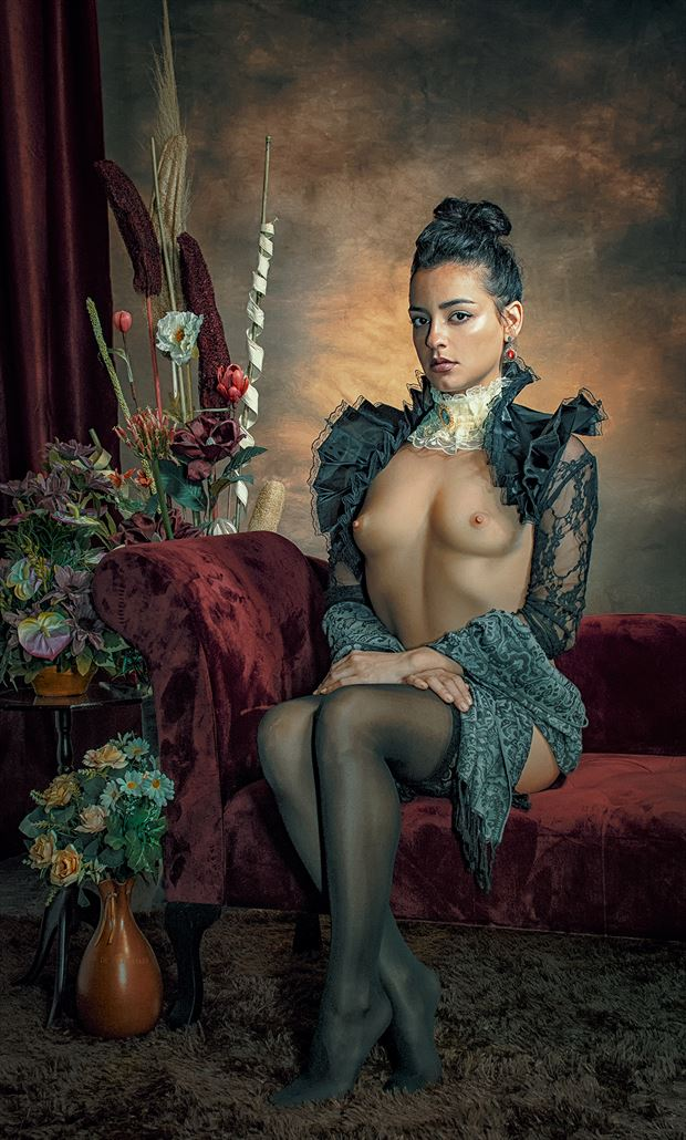 artistic nude chiaroscuro photo by photographer pinturero