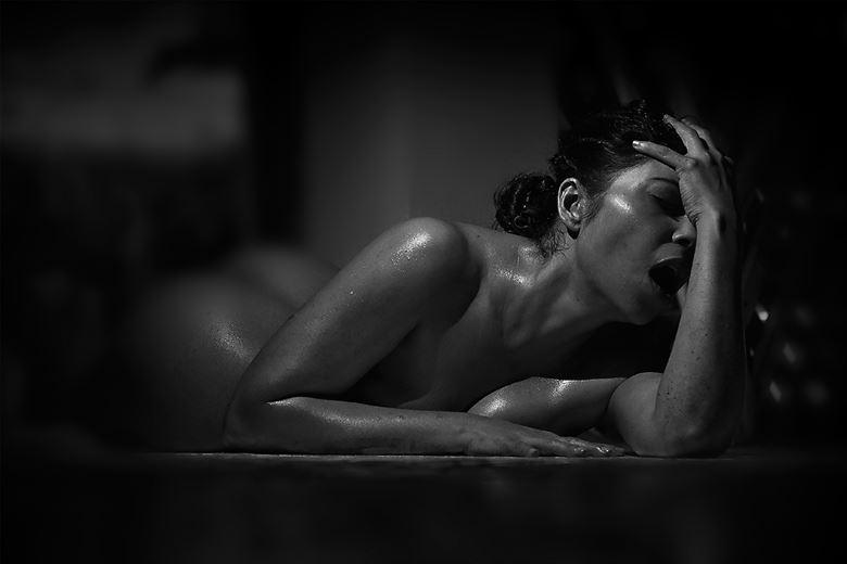 artistic nude erotic artwork by model farrah kader