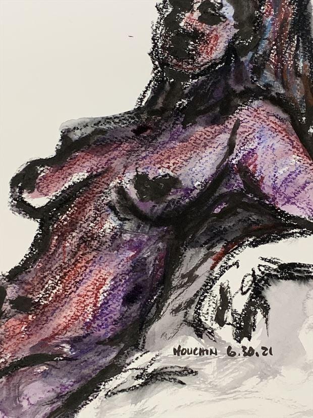 artistic nude figure study artwork by artist kevin houchin
