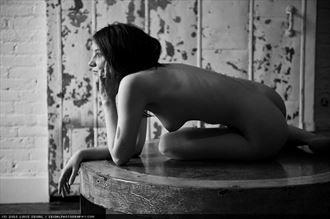 artistic nude figure study photo by model fallenecho