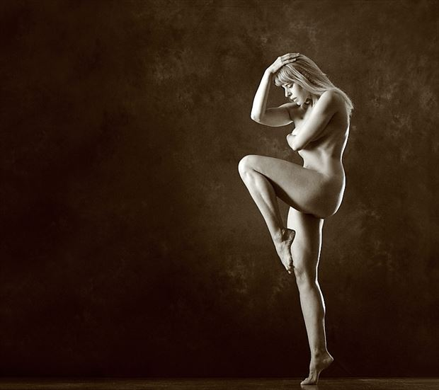 artistic nude figure study photo by model selkie