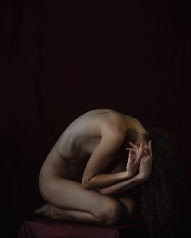 artistic nude implied nude photo by model vivian cove
