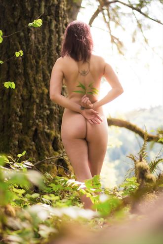 artistic nude nature photo by model caitlin rose