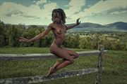 artistic nude nature photo by model gazelle