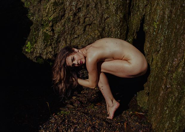 artistic nude nature photo by model helen troy