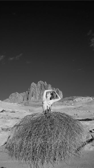 artistic nude nature photo by model sara tiara