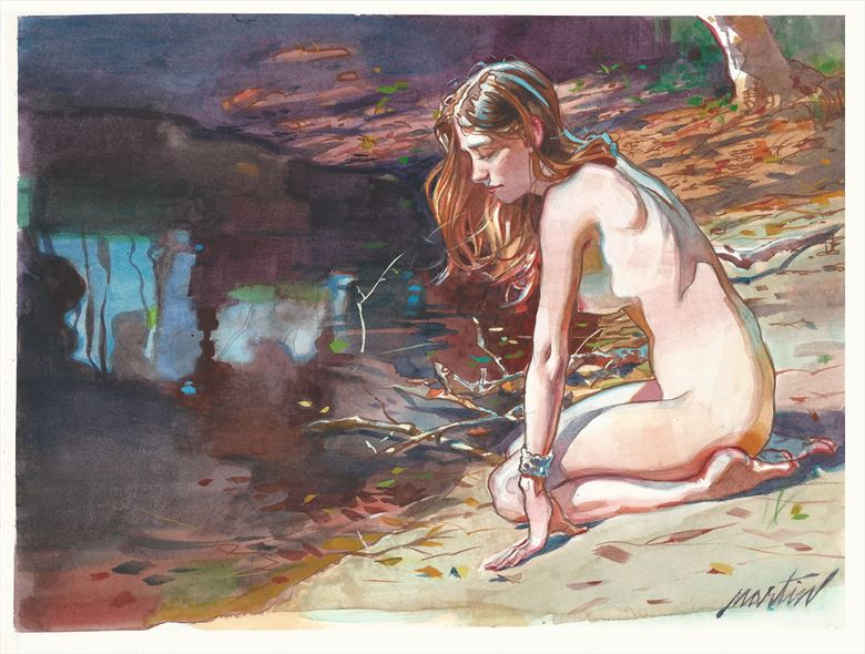 artistic nude painting or drawing artwork by artist james martin