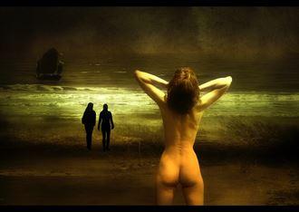 artistic nude photo manipulation artwork by photographer ton de vrind