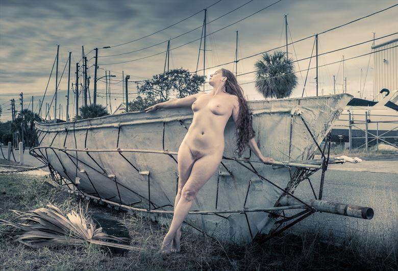 artistic nude portrait photo by model xaina fairy