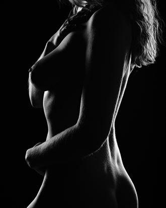 artistic nude silhouette artwork by photographer rain