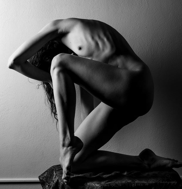 artistic nude silhouette photo by model beth mg