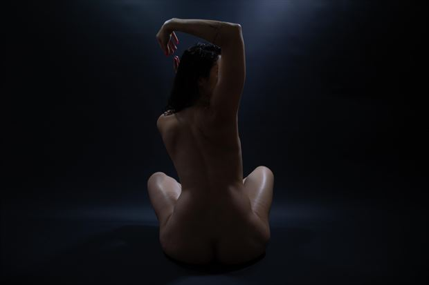 artistic nude silhouette photo by photographer athol peters
